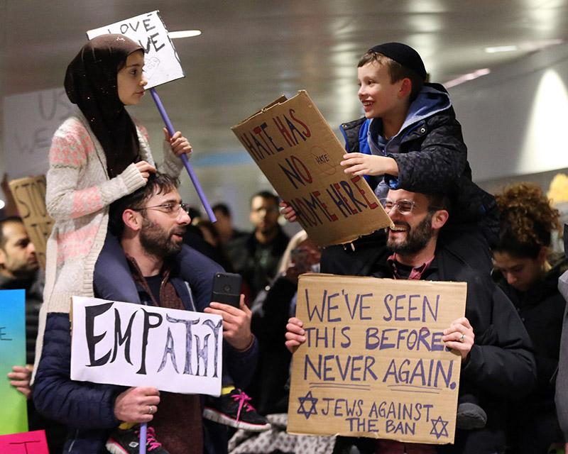 Jewish Muslim Fathers Travel Ban