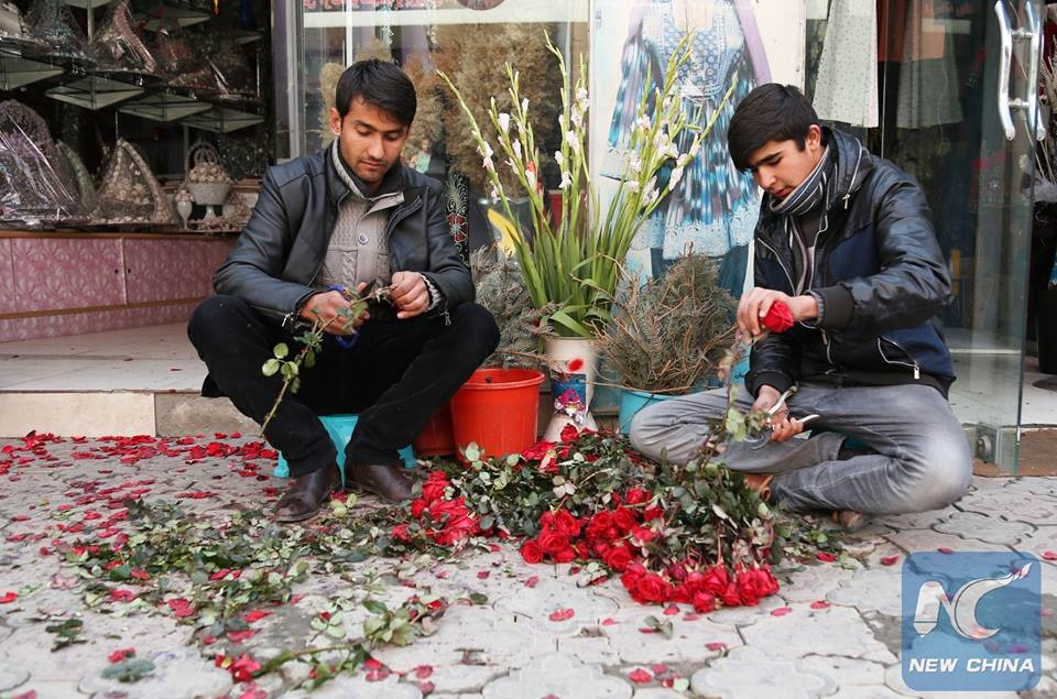 Afghans Celebrate Valentine's Day